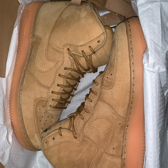 1 Flax Force Wheat Nike High Air Af1 Mens Sneakers dCrBxoeW